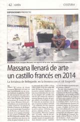 Massana llenará de arte un castillo francés el 2014