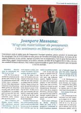 """Joanpere Massana : """" M'agrada materialitzar els pensaments i els sentiments en llibres artístics """""""