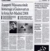 Joanpere Massana rinde homenaje a Guinovart en la feria Art-Madrid 2008