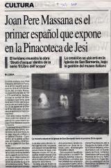 Joanpere Massana es el primer español que expone en la Pinacoteca de Jesi
