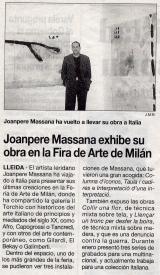 Joanpere Massana exhibe su obra en la Feria de Arte de Milán