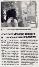 Joan Pere Massana inaugura un mural en una multinacional