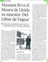 """Massana lleva al Museu de Lleida su muestra """"Del llibre de l'aigua"""""""