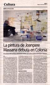 La pintura de Joanpere Massana debuta en Colonia