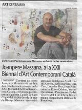 Joanpere Massana, a la XXII Biennal d'Art Contemporani Català