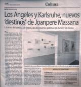 """Los Angeles y Karlsruhe, nuevos """"destinos"""" de Joanpere Massana"""