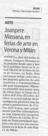 Joanpere Massana, en ferias de arte en Verona y Milán