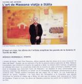 El arte de Massana viaja a Italia