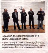 Exposición de Joanpere Massana en el Museo Comarcal de Tárrega